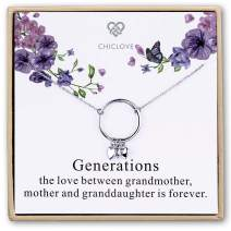 CHICLOVE Generation Necklace - Grandmother Mother Daughter Necklaces - Family Necklace - Grandma Gift - Mother Daughter Necklace - mom Daughter Jewelry