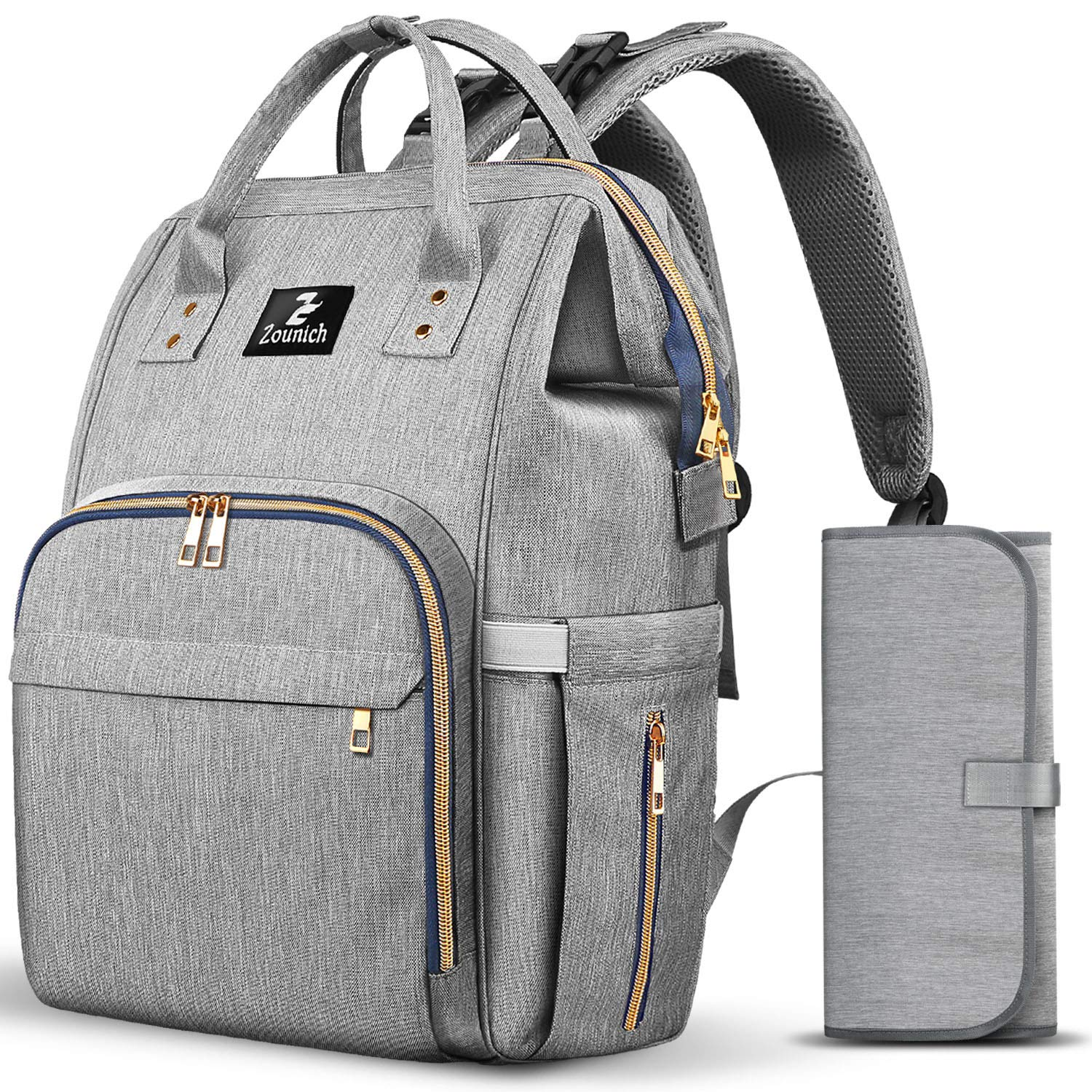 Diaper Bag Backpack,Waterproof Maternity Baby Nappy Changing Bags Back Pack Gray