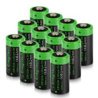 CR123A 3V Lithium Battery, Enegitech Upgrade 1600mAh 12Pack CR123A Batteries Non-Rechargeable with PTC Protection for Photo Camera Flashlight Torch Microphones