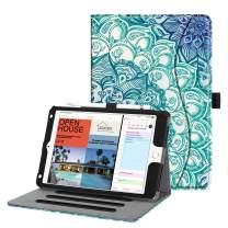 Fintie Case for iPad Mini 5th Gen 2019 / iPad Mini 4 - [Corner Protection] Multi-Angle Viewing Folio Cover w/Pocket, Pencil Holder, Auto Wake/Sleep for iPad Mini 5 / iPad Mini 4, Emerald Illusions