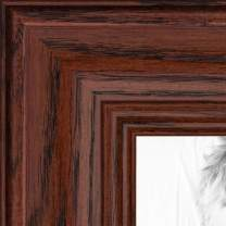 ArtToFrames 7x31 inch Cherry stain on Solid Red Oak Wood Picture Frame, 2WOM0066-59504-YCHY-7x31