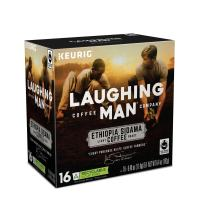 Laughing Man Ethiopa Sidama, Single-Serve Keurig K-Cup Pods, Light Roast Coffee, 16 Count