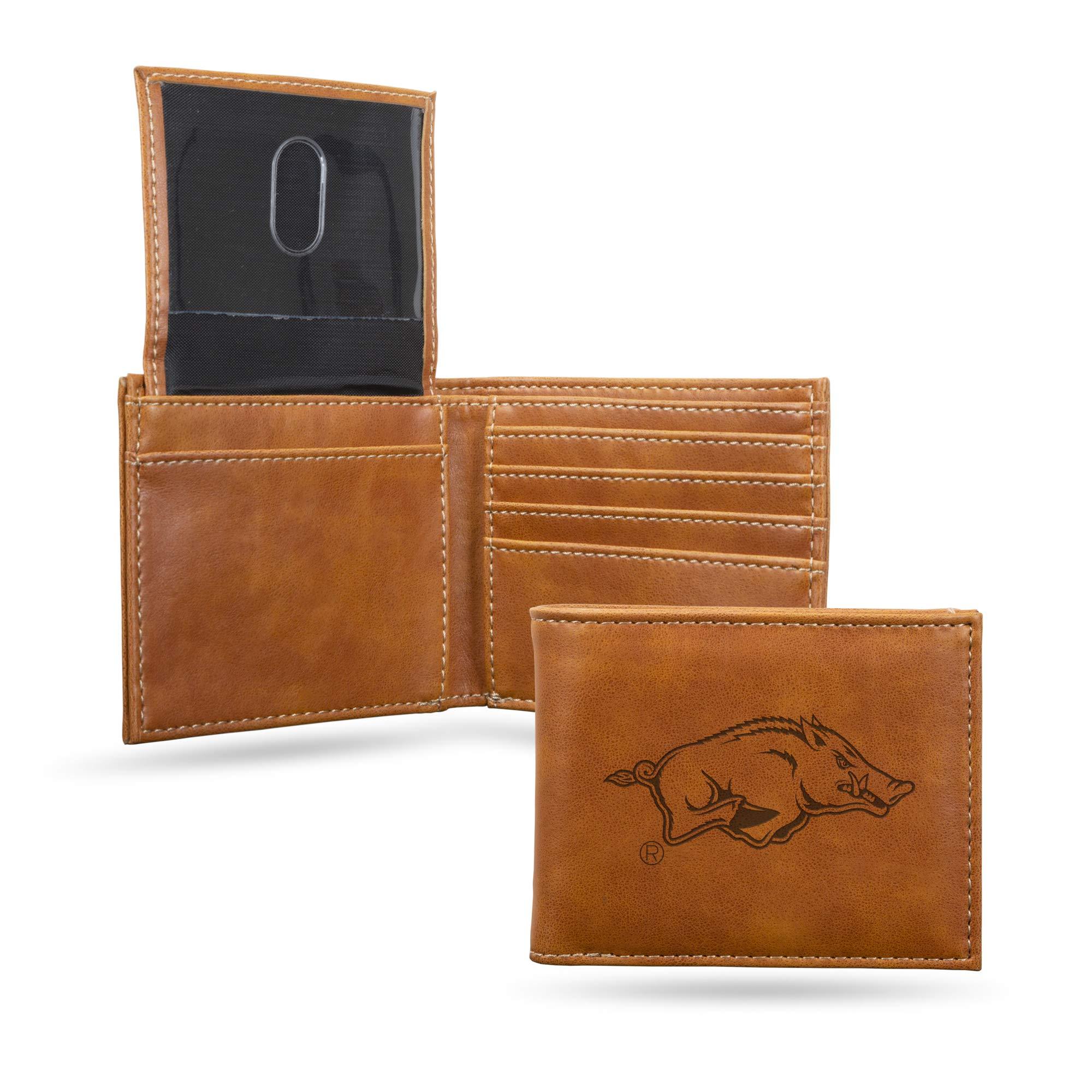 NCAA Rico Industries  Laser Engraved Billfold Wallet, Arkansas Razorbacks