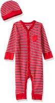 Moon and Back Baby Organic Snap-Front One-Piece Coverall with Cap Set