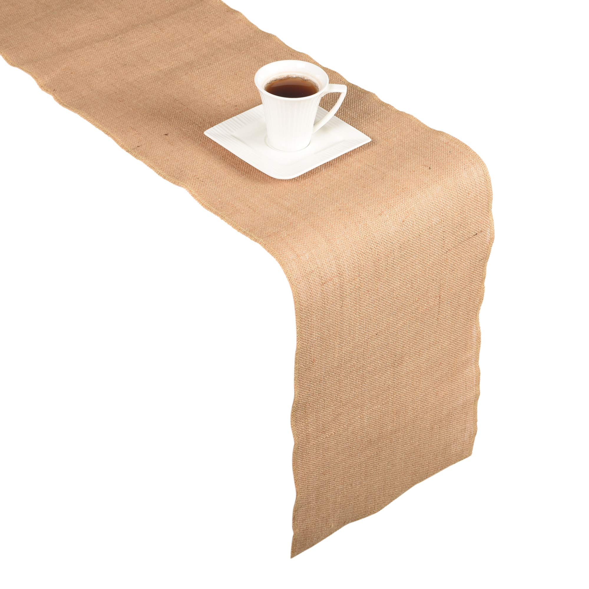 JUCOS Burlap ROLL – NO FRAY Burlap ROLL – Burlap Table Runner – Runners, PLACEMENTS, and Crafts – ECO-Friendly Material – Avoid Messes Completely – 12 INCHES by 108 INCH Burlap ROLL