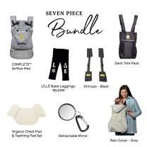 LÍLLÉbaby Everything Baby Bundle - 7 Items: Complete Airflow Ergonomic Baby & Child Carrier, Mist + Multiple Accessories