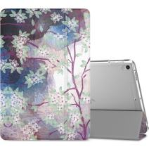 """MoKo Case Fit New iPad Air (3rd Generation) 10.5"""" 2019/iPad Pro 10.5 2017 - Slim Lightweight Smart Shell Stand Cover with Translucent Frosted Back Protector - Lilac (Auto Wake/Sleep)"""