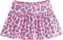 Coolibar UPF 50+ Girls' Wavecatcher Swim Skirt - Sun Protective (X-Large- Aloha Pink/White Watercolor Floral)