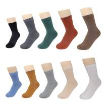 TeenFighter Simple, Beautiful and Comfortable Pure Cotton Socks for Women, solid color socks for girls