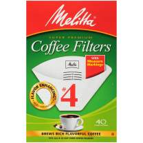 Melitta #4 Cone Coffee Filters, White, 40 Count (Pack of 12)