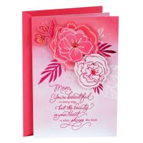 Hallmark Mother's Day Card for Mom (Benefiting Susan G. Komen Breast Cancer Research, Pink Flowers), Donation Susan G. Komen (759MBC1006)