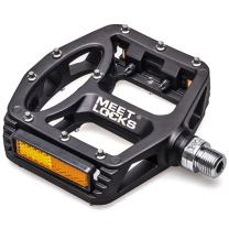 """MEETLOCKS Bike Pedal Injection Magnesium Alloy Body Cr-Mo Machined 9/16"""" Screw Thread Spindle Ultra DU/Sealed Bearings"""