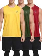 Neleus Men's 3 Pack Workout Tank Top Sleeveless Gym Shirt