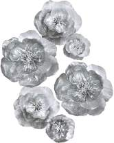 Letjolt Artificial Paper Flower Decorations for Wall Wedding Backdrop Birthday Party Baby Shower Bridal Shower Nursery Wall Decor(Silver Set 6)