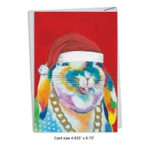12-Pack Box Set of 'Christmas Funny Farm Bunny' Hilarious Greeting Cards w/Envelopes 4.63 x 6.75 inch, Merry Xmas Note Cards for Holidays, Gifts, Christmas Humor, Notecard Stationery C4982GXSG-B12