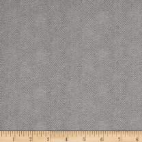 Maywood Studio Woolies Flannel Herringbone Light Grey, Fabric by the Yard