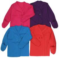 ToBeInStyle Girl's 4 Pack Comfy Relaxed Fit Kimono w/Gloved Sleeves (Mitten Cuffs)