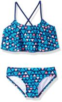 Kanu Surf Girls' Alania Flounce Bikini Beach Sport 2 Piece Swimsuit
