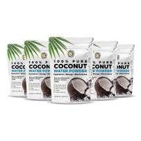 Earth Circle Organics   Pure Young Dried Coconut Water Powder   Hydration   Energy and Electrolyte Supplement   No Additives   Unsweetened   Natural Keto Water Enhancer   Vegan   Gluten Free (5 Pack)