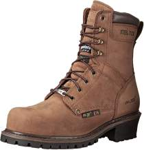 Ad Tec 9 Inch Super Logger Boots for Men, Insulated 100% Waterproof Steel-Toe Safety Work Boots for Men