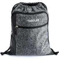 TADDLEE Drawstring Backpack Sackpack Water Resistant for Gym Beach Yoga Sport Pool Lightweight String Bag
