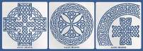 Aleks Melnyk #38 Metal Journal Stencils/Celtic Knot, Cross and Round/Stainless Steel Stencils Kit 3 PCS/Templates Tool for Wood Burning, Pyrography and Engraving/Scrapbooking/Crafting/DIY
