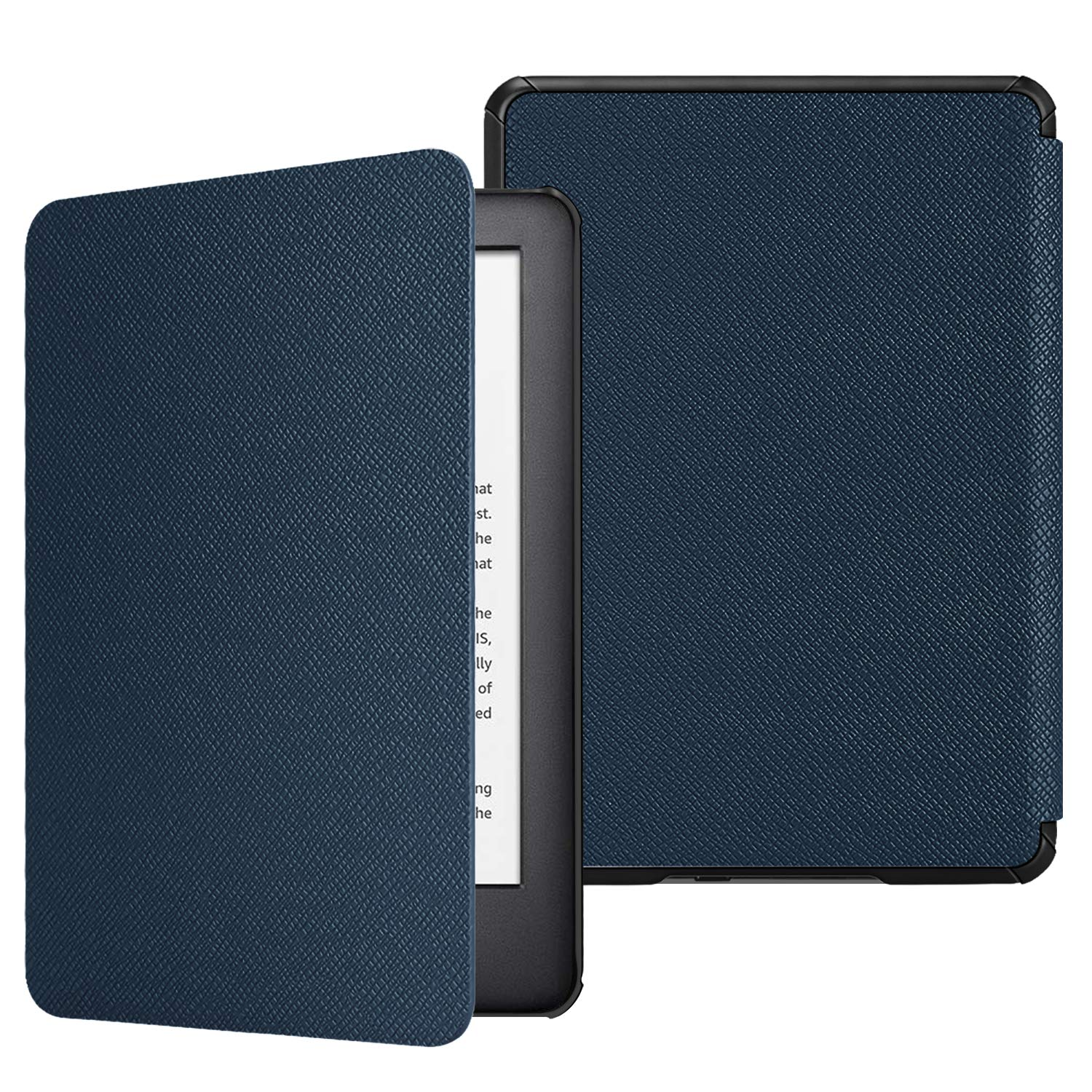 Fintie Slimshell Case for All-New Kindle (10th Generation, 2019 Release) - Lightweight Premium PU Leather Protective Cover with Auto Sleep/Wake (NOT Fit Kindle Paperwhite or Kindle 8th Gen), Navy