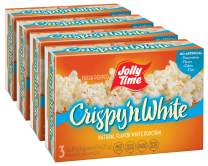JOLLY TIME Crispy N' White | Tender Natural Microwave Popcorn - Lightly Salted, High Fiber, Zero Sugar Heart Healthy Snack Food (3-Count Box, Pack of 4)