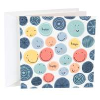 Hallmark Studio Ink Birthday Card (Smiley Faces)