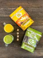 Coconut Cloud Vegan Latte Bundle: Japanese Green Tea Matcha & Turmeric Ginger Golden Milk | Made in the USA from Creamy, Delicious Coconut Milk Powder (Dairy, Gluten & Soy Free, Non-GMO), 2 pack