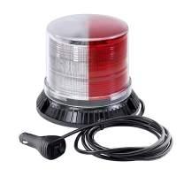 Emergency Strobe LED Beacon Light [12 Watt] [14 Modes] [Powerful Magnet] [Dust Cover] [13ft Cord] Warning Flashing Emergency Vehicle Lights for Cars and Trucks - Red/White