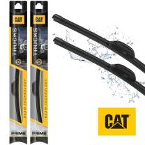 Caterpillar CAT All Season Heavy Duty Truck Windshield Wiper Blades - Ultra Strong/Extra Durable - Crystal-Clear, Streak-Free, Silent (22 + 24 inch (Pair for Front Windshield))