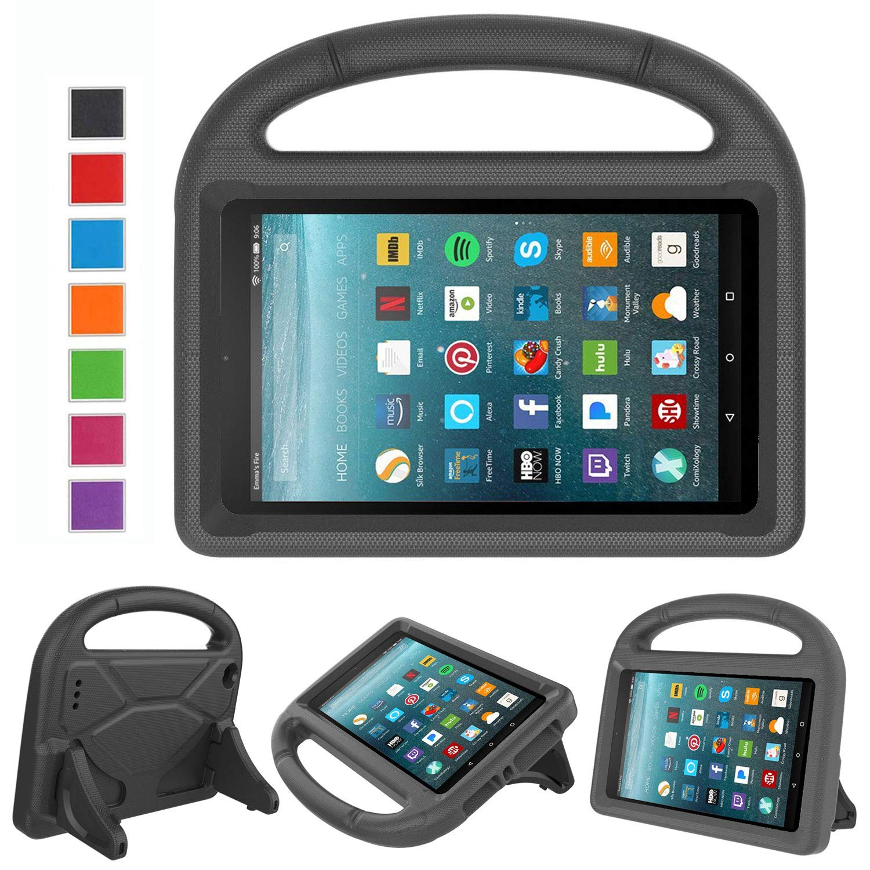 2017 New Fire 7 Case - LTROP Portable Shock Proof Fire 7 Tablet Case for Kids (7th Generation, 2017 Release) - Black