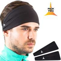 French Fitness Revolution Mens Headband - Guys Sweatband & Sports Headband for Running, Crossfit, Working Out. Versatile
