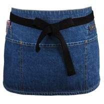 "100% Cotton Denim Waist Apron with Zipper Pocket & Pen Pocket, 11"" X 23"""