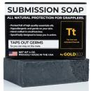 Premium Tea Tree Oil Soap - With Activated Charcoal! 100% All Natural USA Made Bars for BJJ, Jiu Jitsu, Wrestling (Single 4 Ounce Soap Bar)