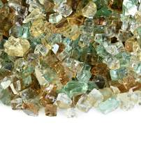 Irish Roast - Fire Glass Blend for Indoor and Outdoor Fire Pits or Fireplaces | 10 Pounds | 1/4 Inch, Reflective