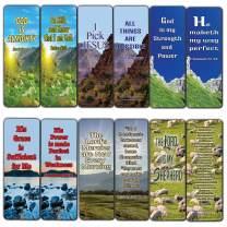 Christian Bookmarks Psalm 23 (12-Pack)- KJV Almighty God Inspirational Favorite Bible Verses