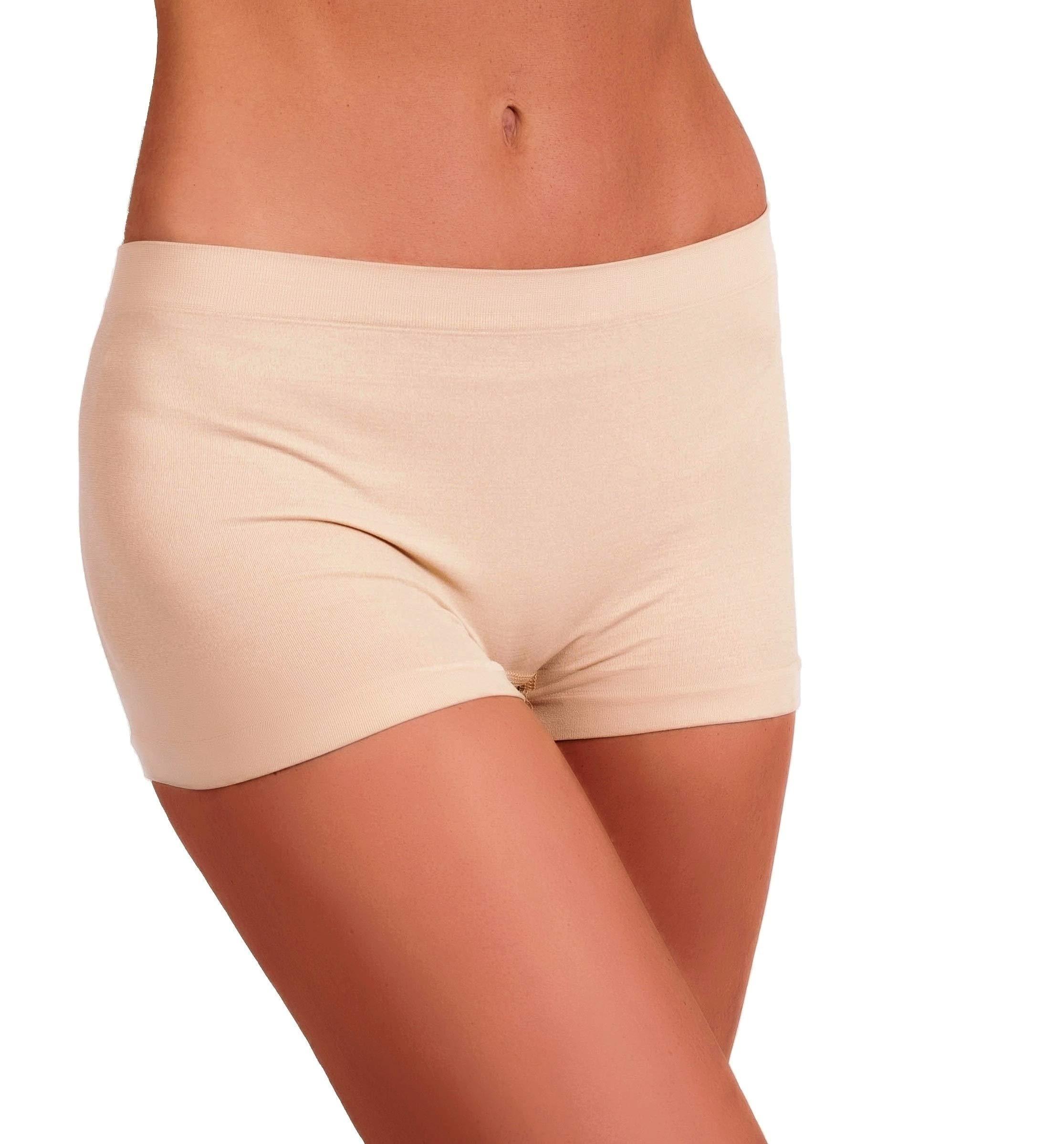 EVARI Women's Seamless Second Skin Boyshort Panties Stretch Underwear Pack of 5 OR Pack of 2