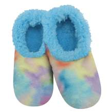 Snoozies Tie Dye Cotton Candy Womens Slippers - Indoor House Slippers for Women