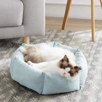 WESTERN HOME WH Cat Beds for Indoor Cats Round Soft Cushion Machine Washable Anti-Slip Bottom 20 Inch