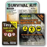 Do-It-Yourself: EDC Survival Kit Bundles: Kit + Tiny Survival Guide + Storage Tin/Emergency, Disaster, Tactical - Great Gift!