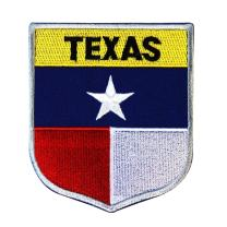 State Flag Shield Texas Patch Badge Travel USA Seal Embroidered Sew On Applique