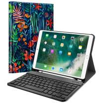 "Fintie Keyboard Case for iPad Air 3rd Gen 10.5"" 2019 / iPad Pro 10.5"" 2017 - SlimShell Stand Protective Cover w/Magnetically Detachable Wireless Bluetooth Keyboard and Pencil Holder, Jungle Night"