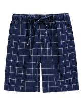 TINFL Cotton Lounge Pants for Men - 100% Soft Cotton Plaid Check Lounger Sleeping Pajama Pants with Pockets