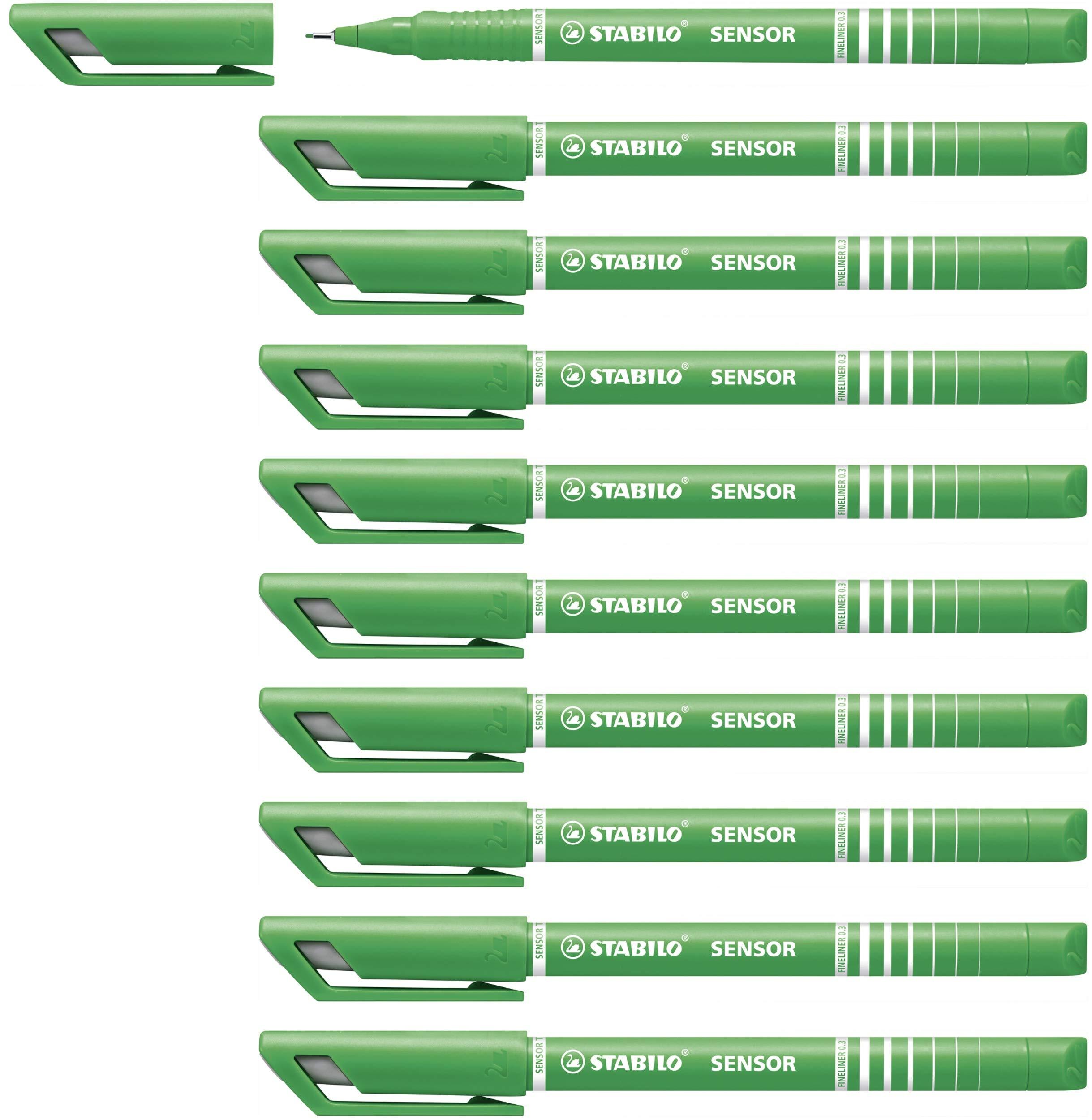 Fineliner - STABILO Sensor F Box of 10 Green