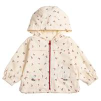 COTTON FAIRY Baby Girls Jackets Cherry Hoodie Coats