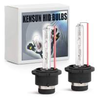 Premium HID Xenon Low Beam Headlight Replacement Bulbs - by Kensun - (Pack of two bulbs) - D2S - 10000K