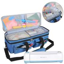 Luxja Double-Layer Bag Compatible with Cricut Explore Air (Air2) and Maker, Carrying Bag Compatible with Cricut Die-Cut Machine and Supplies (Bag Only, Patent Pending), Blue