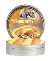 """Crazy Aaron's Thinking Putty 4"""" Tin - Hypercolor Sunburst - Color Changing Putty, Firm Texture - Never Dries Out"""
